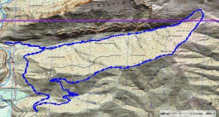 Mapa Monte Sarasé